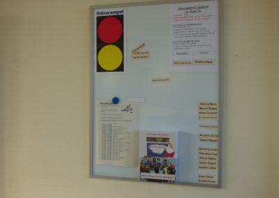 Klassenraum Info-Board