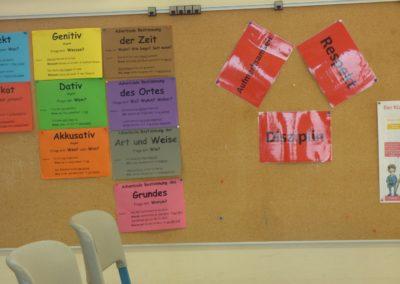 Klassenraum Infoboard zwei