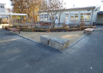 Schulhof Sitzen im Freien